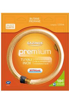 Tuyau de gaz Gazinox Tuyau Butane ou Propane illimité Premium 1,5M