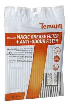 Filtre de hotte anti graisse KIT FILTRES MAGIC UNIVERSELS Temium
