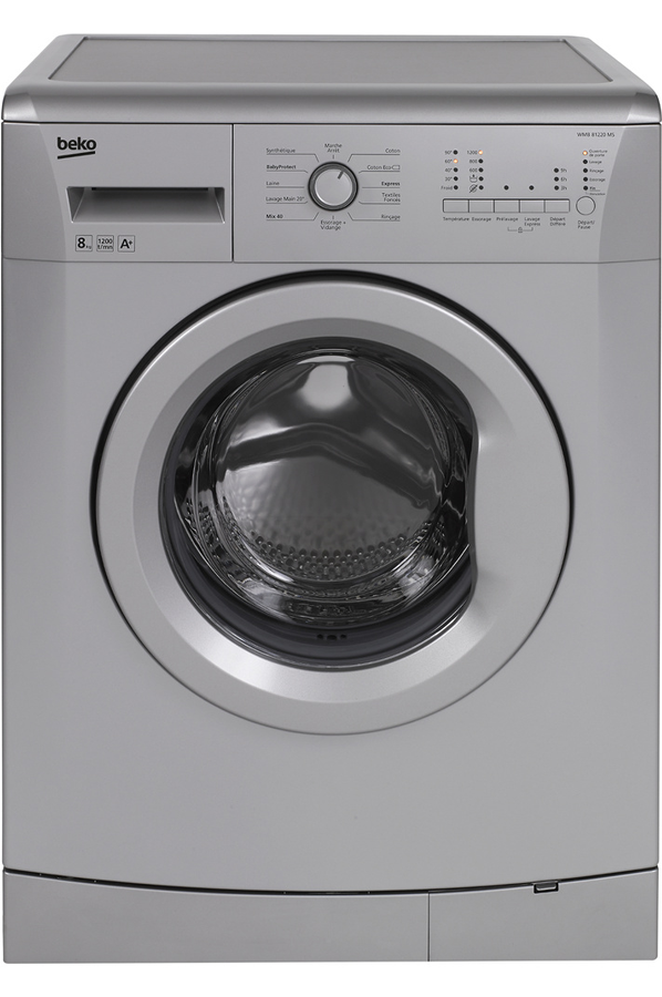 Lave linge hublot beko llf08s1 silver 4223047 darty - Comment superposer machine a laver et seche linge ...