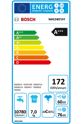 Lave linge hublot WAE24071FF Bosch