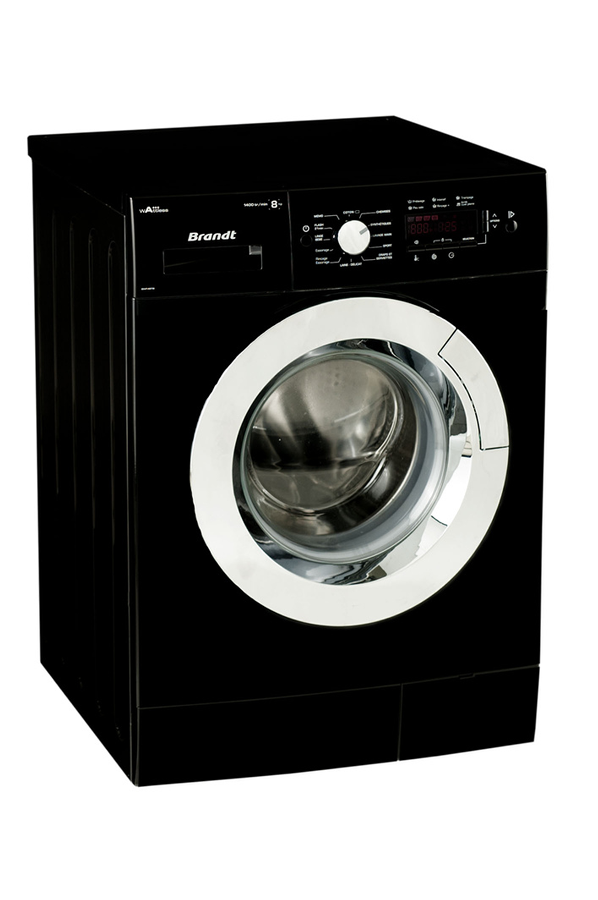 Lave linge hublot brandt bwf48tb noire 4034350 darty - Dimension standard machine a laver hublot ...
