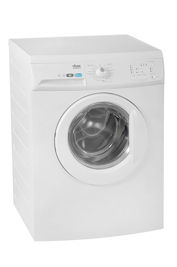 Lave linge hublot faure fwgb6122k blanc 3739724 darty for Consommation d eau machine a laver
