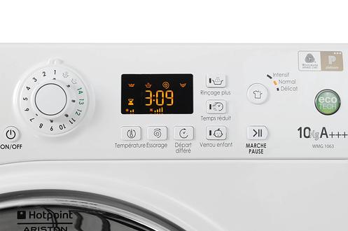 Lave linge hublot hotpoint wmg 1063bx blanc 3456927 - Lave linge hotpoint 10 kg ...