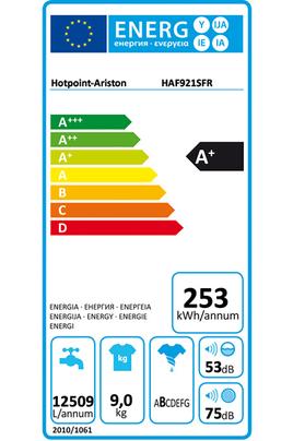 Lave linge hublot Hotpoint HAF921SFR BLANC