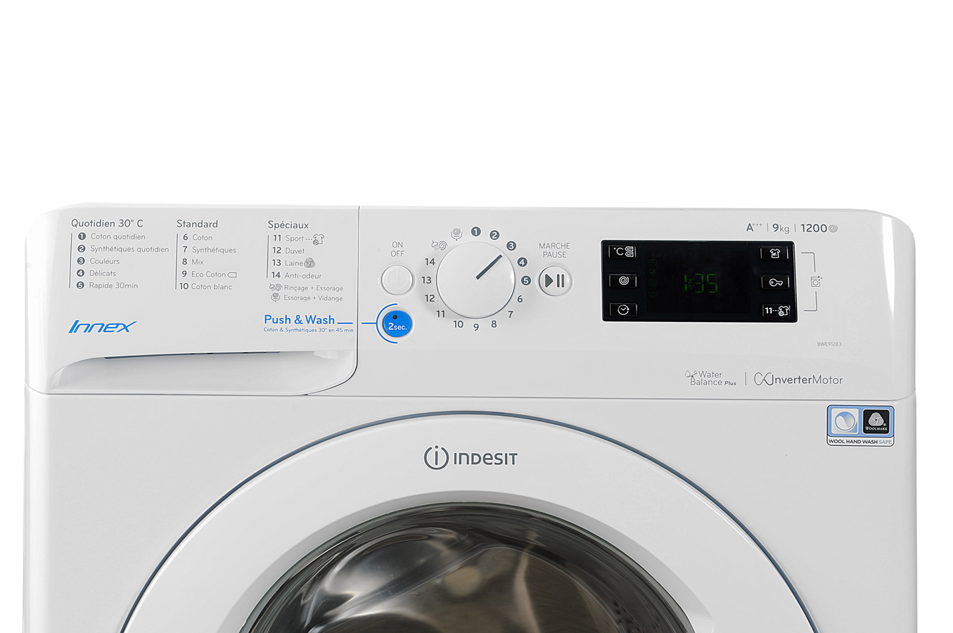 lave linge hublot indesit bwe 91283x w fr 4227174 darty