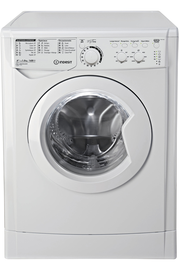 Lave linge hublot indesit ewc 81482 w fr 4181816 darty for Quelle marque de machine a laver choisir