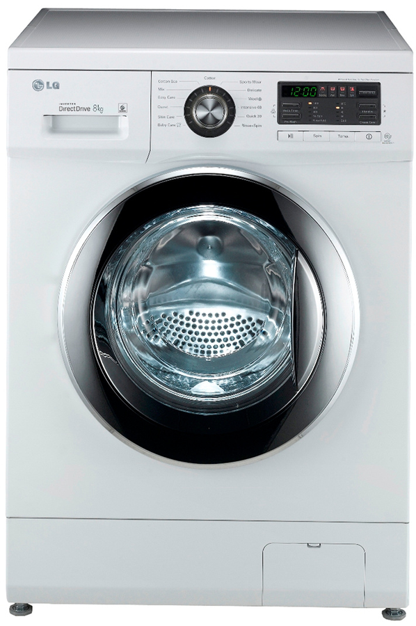 Lave linge hublot lg f84552wh 4318501 darty - Dimension standard machine a laver hublot ...
