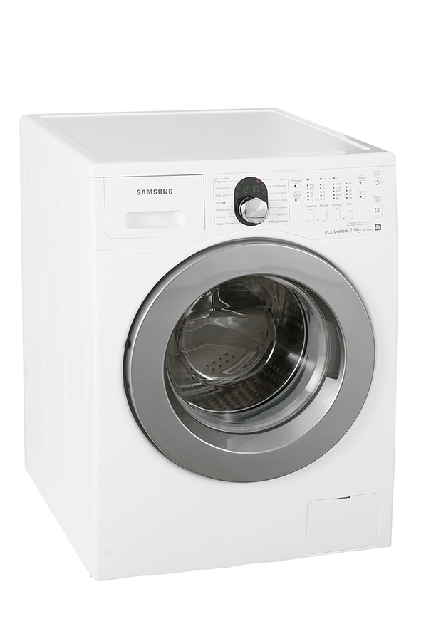 lave linge hublot samsung wf1704wsv eco bubble blanc. Black Bedroom Furniture Sets. Home Design Ideas