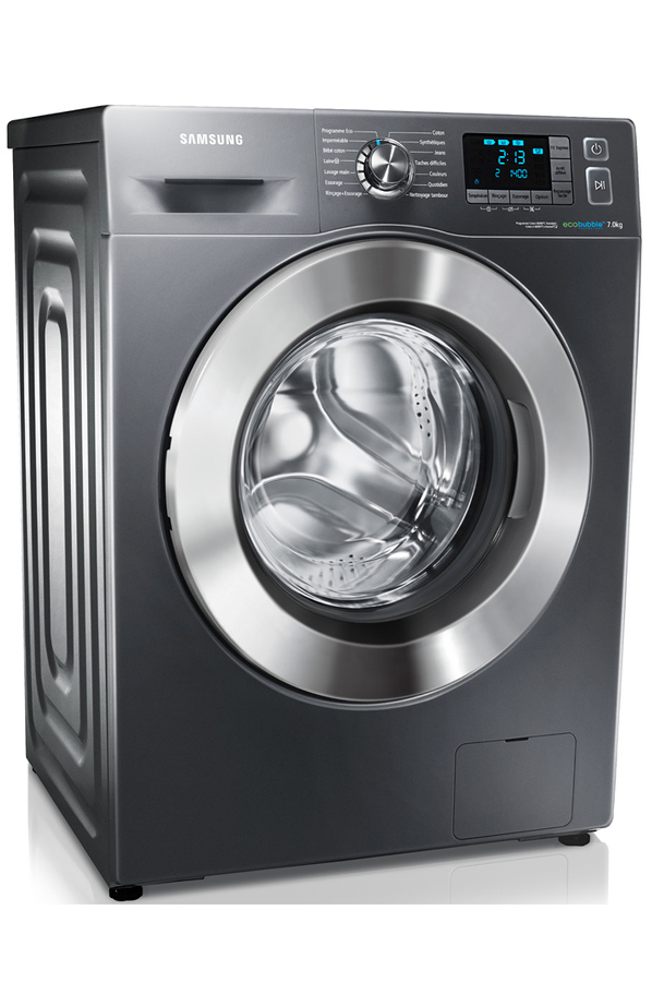 lave linge hublot samsung wf70f5e5w4x eco bubble silver. Black Bedroom Furniture Sets. Home Design Ideas