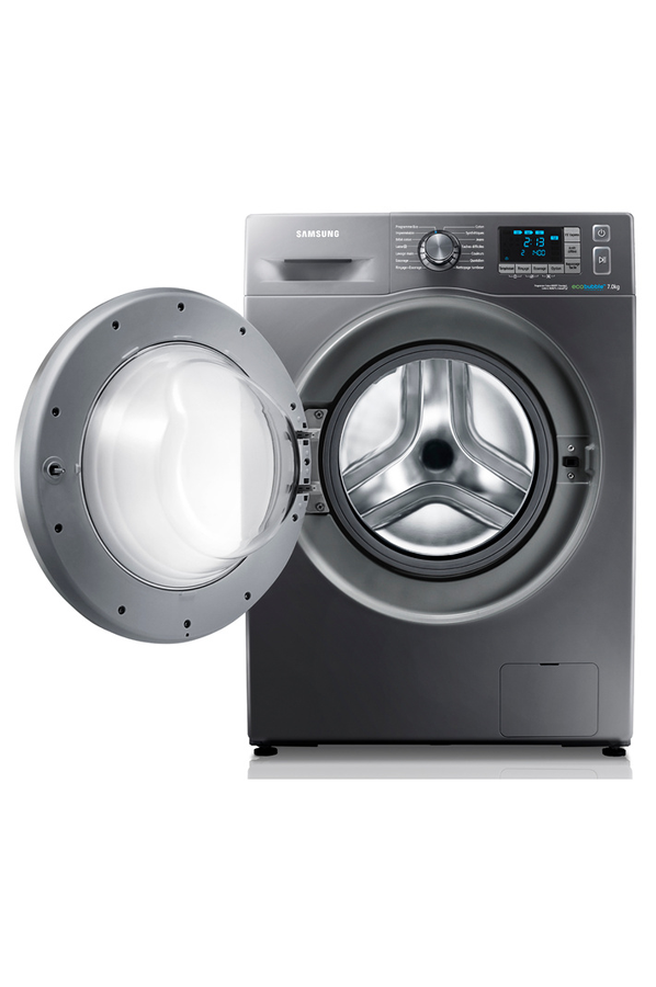 samsung wf70f5e5w4x eco bubble silver lave linge electrom nager. Black Bedroom Furniture Sets. Home Design Ideas