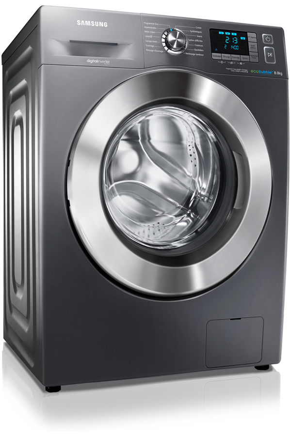 lave linge hublot samsung wf80f5e5u4x inox eco bubble. Black Bedroom Furniture Sets. Home Design Ideas