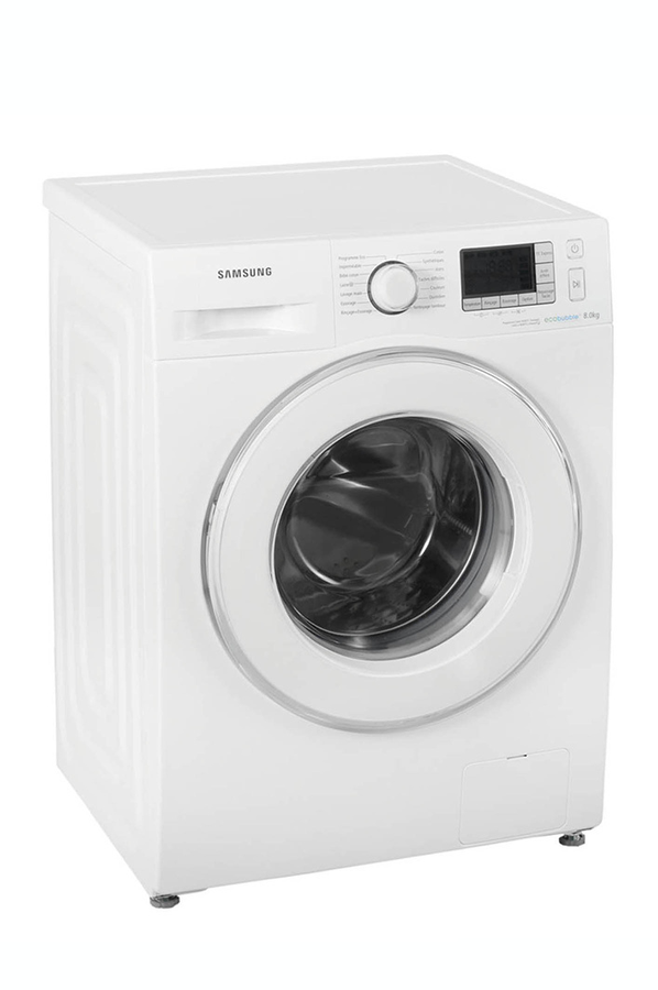 lave linge hublot samsung wf80f5e5w4w eco bubble blanc wf80f5e5w4w ecobubbl. Black Bedroom Furniture Sets. Home Design Ideas