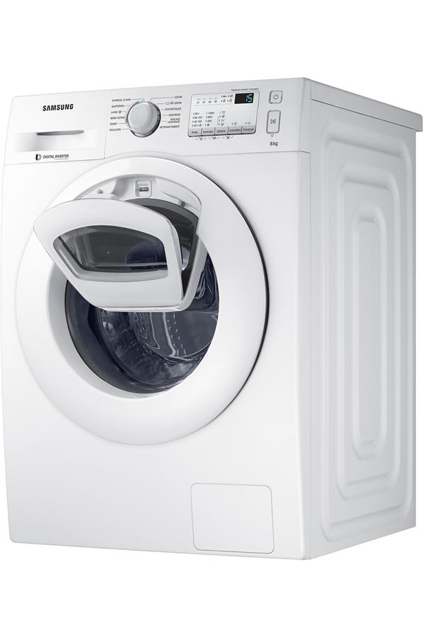 samsung ww80k4437yw add wash lave linge electrom nager. Black Bedroom Furniture Sets. Home Design Ideas