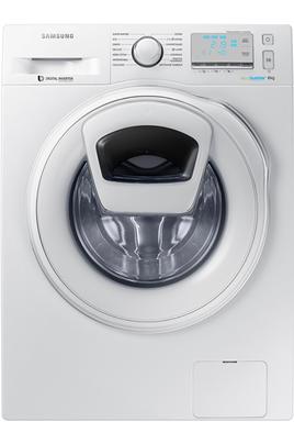 Capacité 8 kg (tambour 63 L) - Classe A+++ (-40%) Essorage variable jusqu'à 1400 tours/min Fin différée / Affichage du temps restant Technologie EcoBubble - Hublot additionnel Add Wash