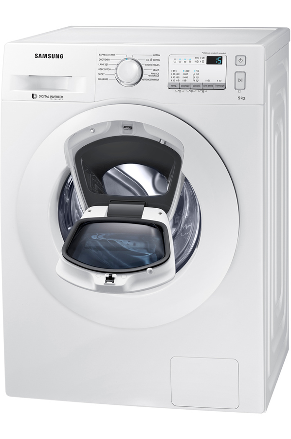 lave linge hublot samsung ww90k4437yw add wash 4264843. Black Bedroom Furniture Sets. Home Design Ideas