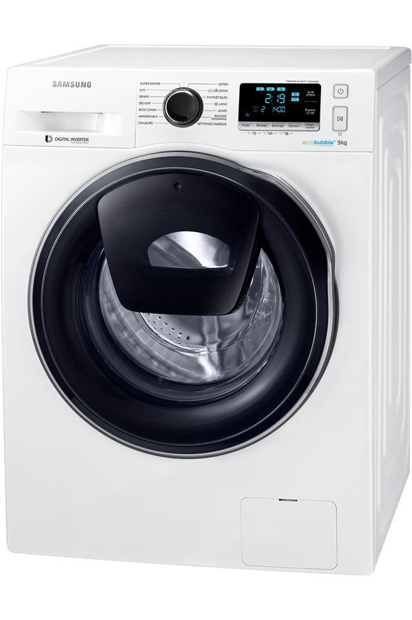 lave linge hublot samsung ww90k6414qw add wash 4196287 darty
