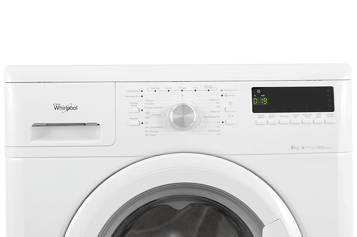 whirlpool awod2836 lave linge electrom nager. Black Bedroom Furniture Sets. Home Design Ideas