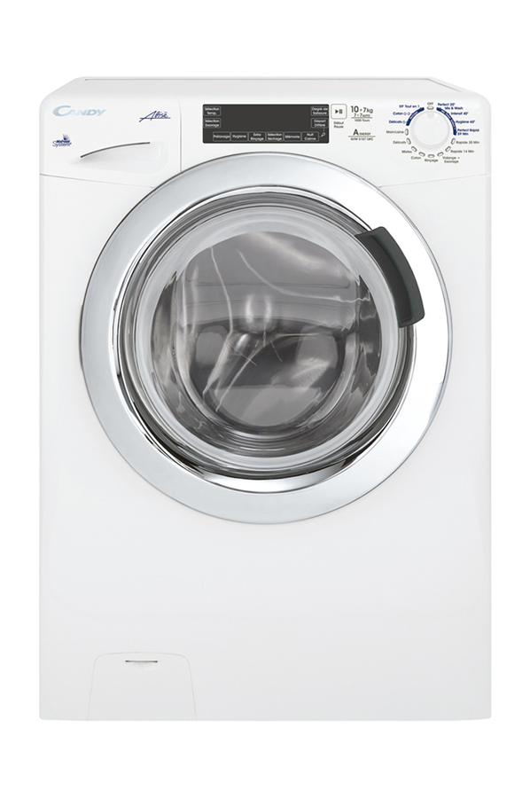 lave linge sechant candy gvw5107 lwhc (4042778) | darty