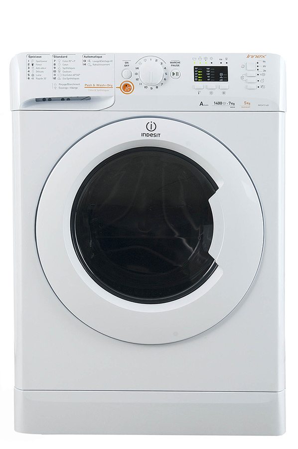 lave linge sechant indesit xwda 751480x w fr.1 (4122640) | darty
