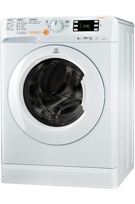 Capacité de lavage 8 kg / séchage 6 kg - Classe A Essorage max. 1400 tours/min Départ différé 24 heures / Affichage temps restant Woolmark blue - Push & wash dry