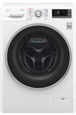 Capacité de lavage 7 kg / Séchage 4 kg - Classe B Essorage max. 1200 tours/min Fin différée / Affichage du temps restant Taille compacte (44 cm) - Synchronisation via WiFi