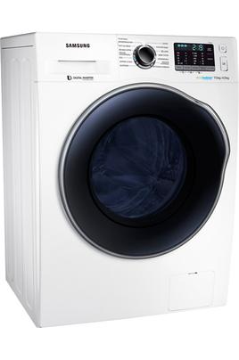Capacité de lavage 7 kg / séchage 4 kg - Classe A Essorage max. 1400 tours/min Fin différée / Affichage du temps restant Cycle enchaîné lavage + séchage