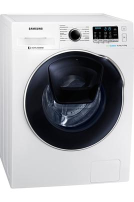 Capacité de lavage 8 kg / séchage 6 kg - Classe B Essorage max. 1400 tours/mn Fin différée / Indication temps restant Technologie Eco Bubble / Hublot additionnel Add Wash