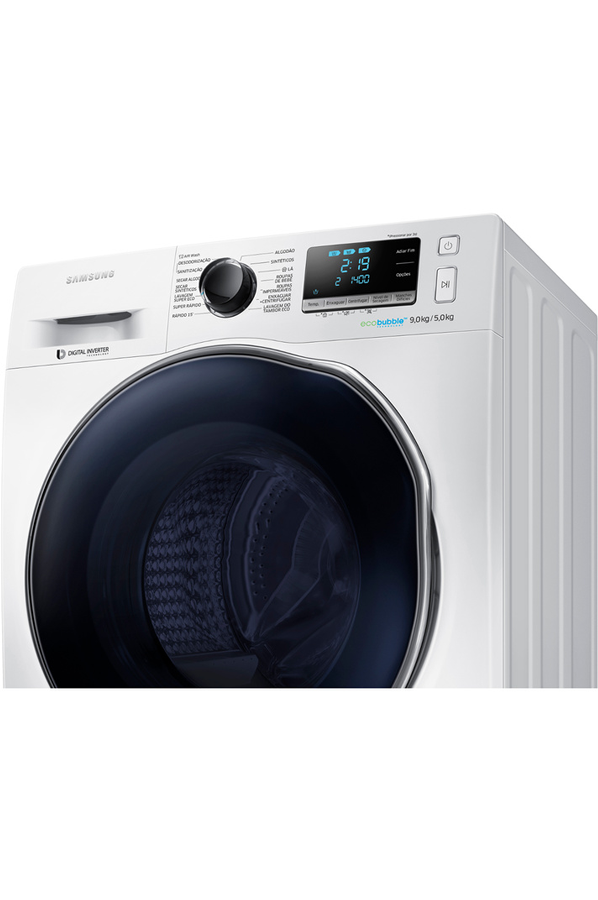 lave linge sechant samsung wd90j6410aw eco bubble 4118855 darty. Black Bedroom Furniture Sets. Home Design Ideas