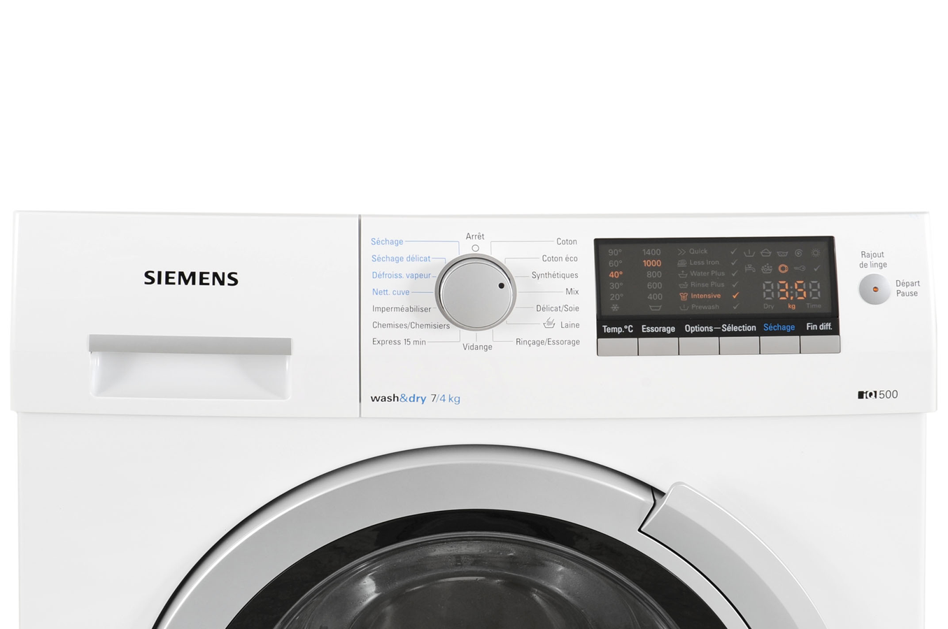 lave linge sechant siemens iq 500 wd14h461ff blanc. Black Bedroom Furniture Sets. Home Design Ideas