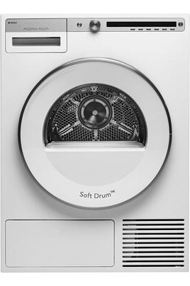 Séchage électronique par sonde Capacité 9 kg - Pompe à chaleur A++ - Générateur vapeur Départ différé / Affichage du temps restant Construction robuste - Option demi-charge