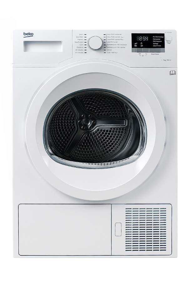 S che linge beko dds7433gx0w 4166132 darty for Temps sechage seche linge