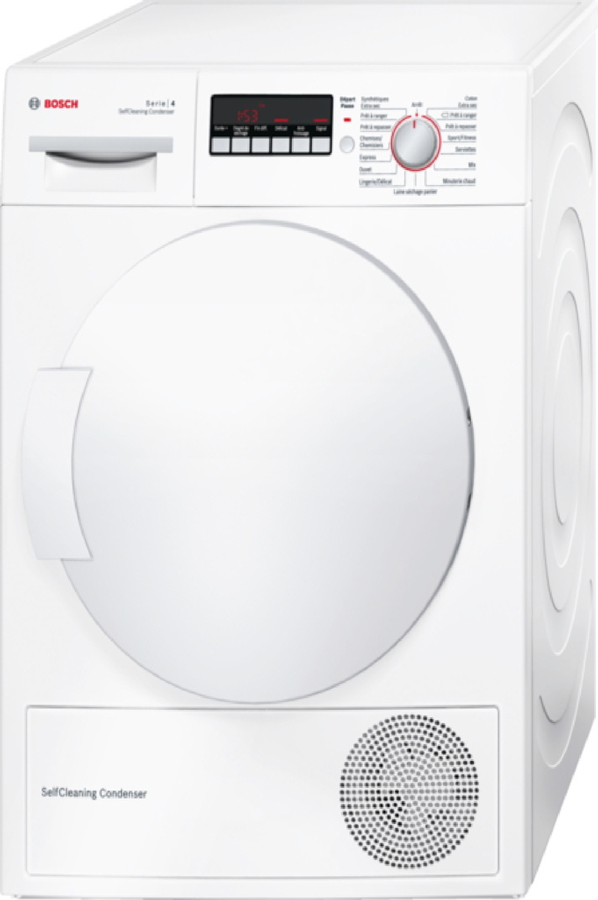 S che linge bosch wtw84260ff 4165209 darty for Temps sechage seche linge