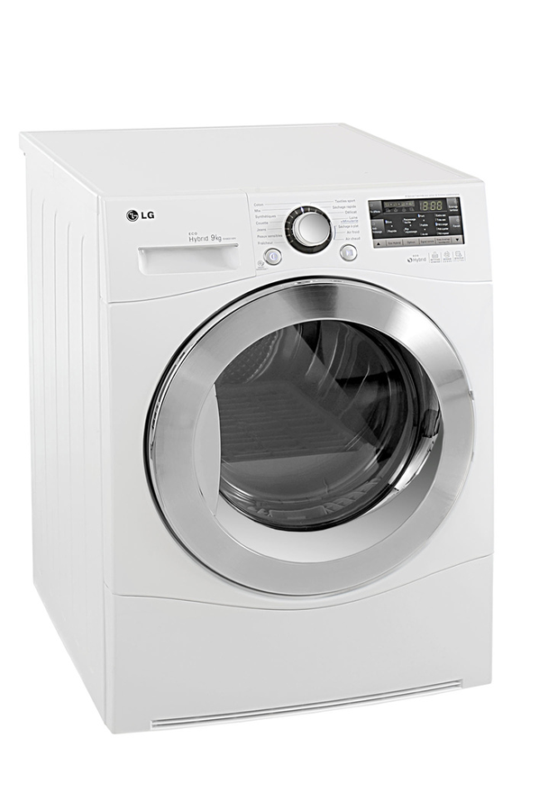 S che linge lg rh9051wh 3499790 darty for Temps sechage seche linge