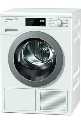 Capacité 8 kg - Condensation Séchage par sonde - Départ différé de 0h30 à 24 h Tambour Aérogliss breveté - Moteur induction ProfiEco Pompe à chaleur A - FragranceDos avec diffuseur de parfum
