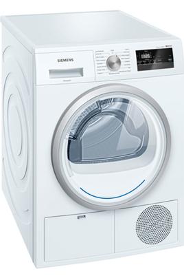 Capacité 7 kg - Pompe à chaleur A++ Séchage iSensoric Fin différée / Affichage du temps restant Programme Express : 2Kg de linge séchés en 40 min. Filtre easyClean pour un nettoyage facile du filtre condenseur