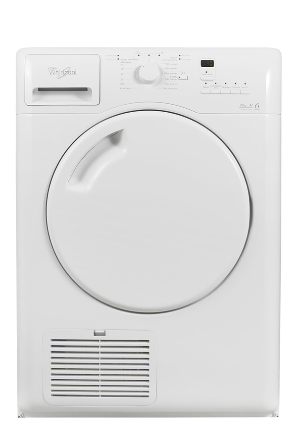 S che linge whirlpool aza7211 4169689 darty for Temps sechage seche linge