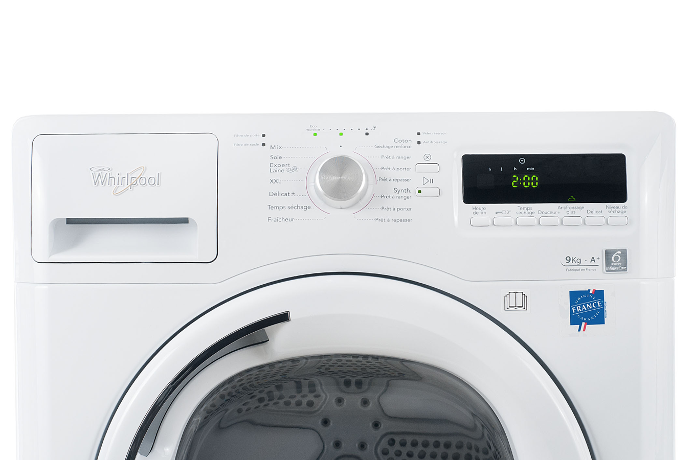 S che linge whirlpool aza9321 blanc 3816958 darty - Seche linge condensation darty ...