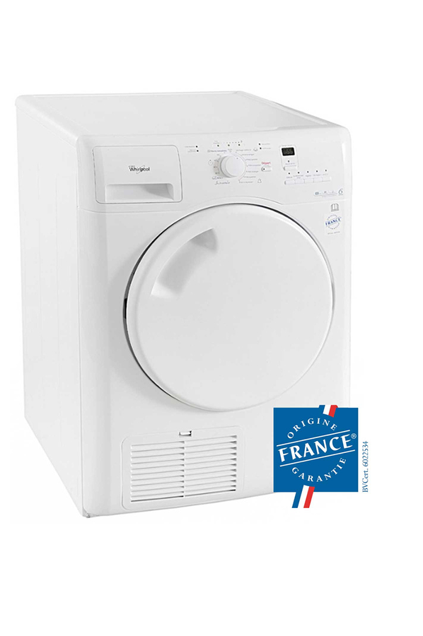 Pack lave linge hublot whirlpool awod4836 kit 3779467 for Temps sechage seche linge