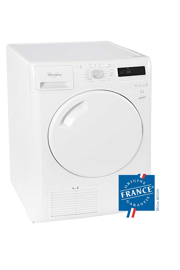 S che linge whirlpool azb9683 3629570 darty for Temps sechage seche linge
