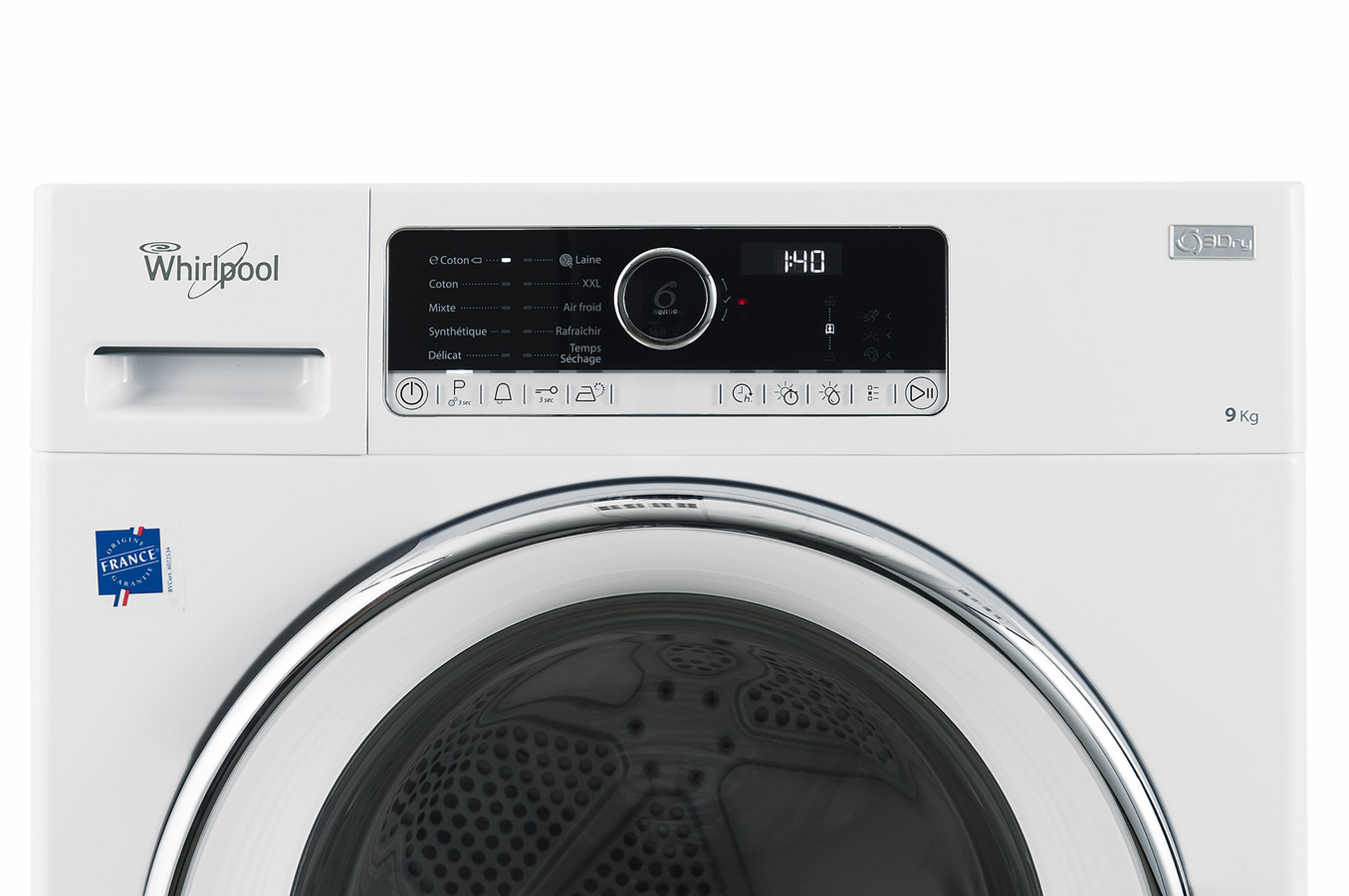 Whirlpool hscx90422 supreme care s che linge for Temps sechage seche linge