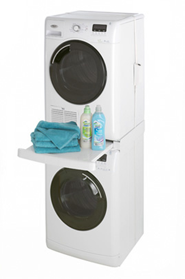 Kit de superposition wpro kit de superposition sks100 - Meuble superposition lave linge seche linge ...