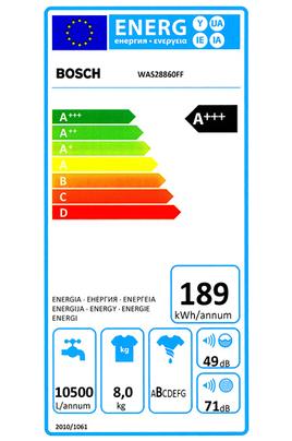 Bosch WAS28860FF BLANC