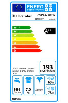 Electrolux EWP147105W BLANC