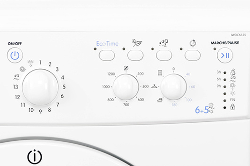 Lave linge sechant Indesit IWDC 6125 BLANC