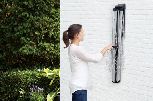 Sechoir linge brabantia wallfix 1267124 for Sechoir a linge mural escamotable