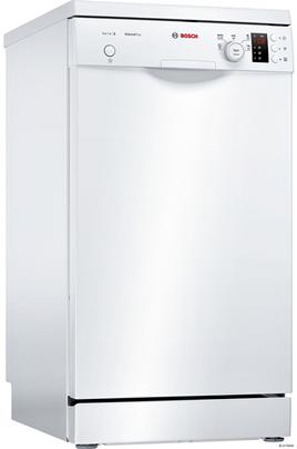 Largeur 45 cm (9 couverts) - 46 dB Consommation d'eau 8.5 L/cycle - Classe A+ Départ différé 1 à 24 heures Programme Silence - Option séchage extra