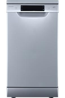 Largeur 45 cm (10 couverts) - 46 dB Consommation d'eau 11 L/cycle - Classe A++ Départ différé / Affichage du temps restant Option demi-charge