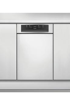 Lave vaisselle whirlpool wsbc3m17x 45cm inox
