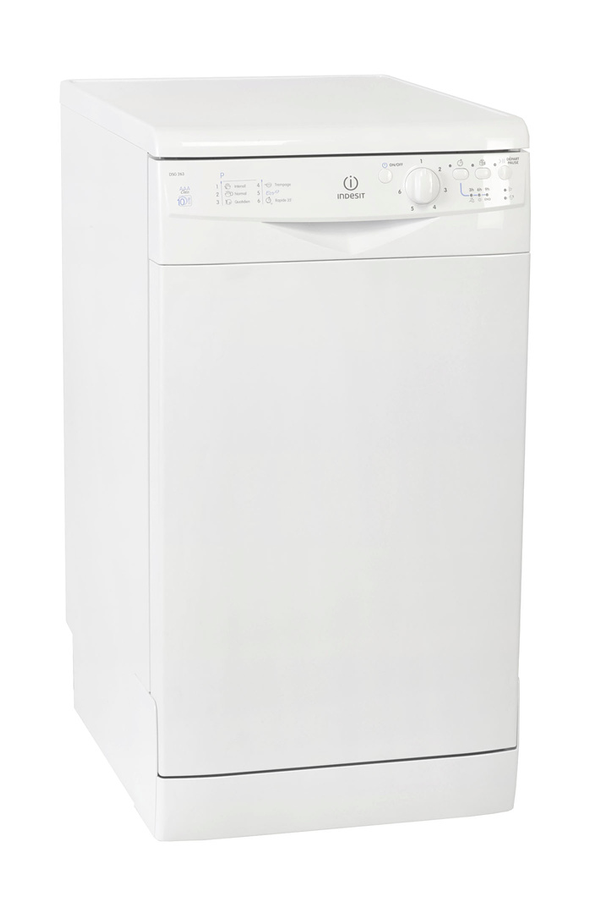Lave vaisselle indesit dsg 263 blanc 3210090 darty for Lave vaisselle vinaigre blanc
