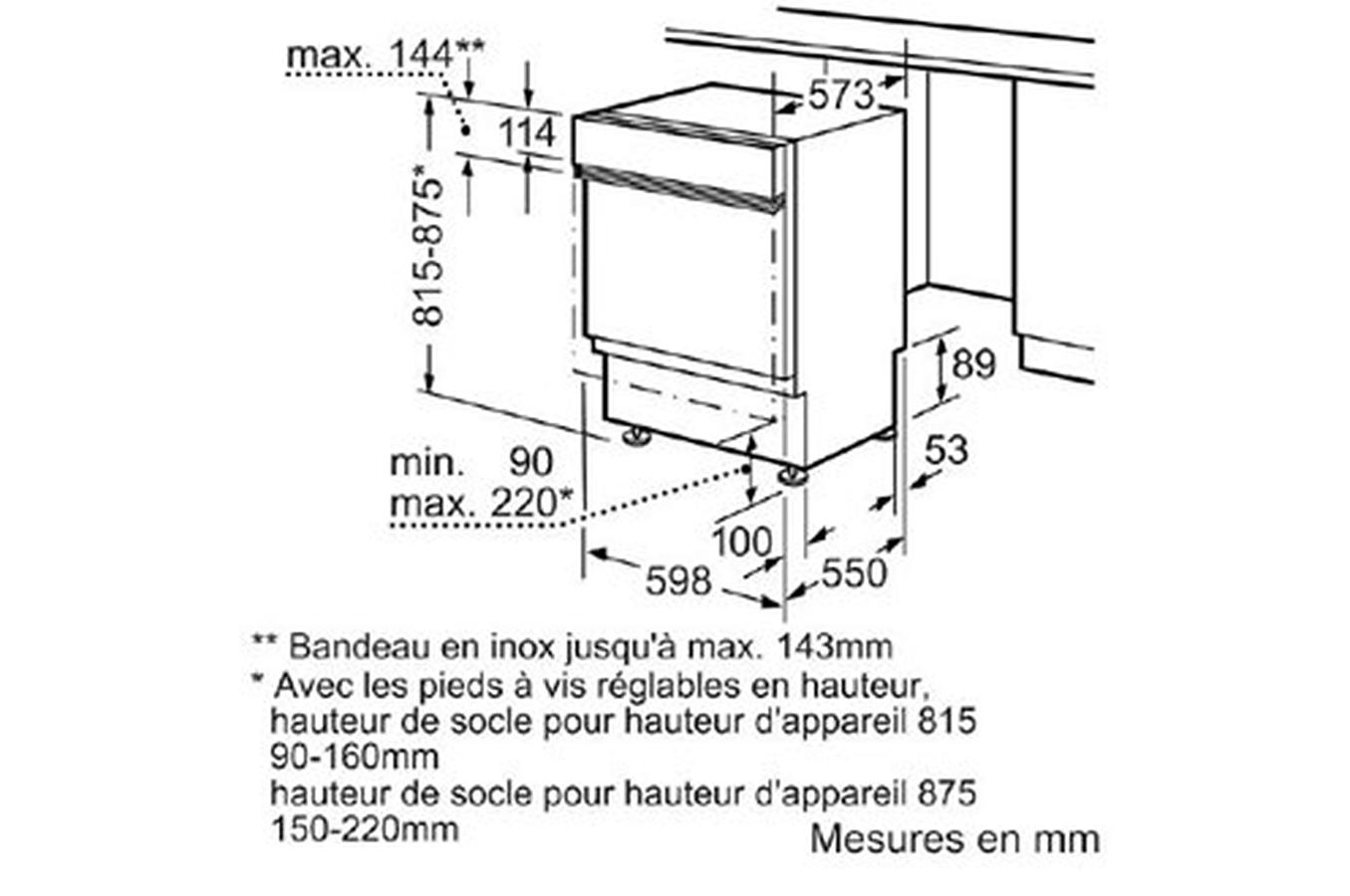 Lave vaisselle encastrable bosch smi53m82eu blanc - Montage porte lave vaisselle encastrable bosch ...